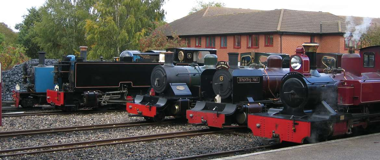 Bure Valley Railway Steam Locomotives Aylsham Norfolk