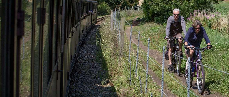 Bure Valley Railway Traffic free cycling Aylsham Wroxham Norfolk