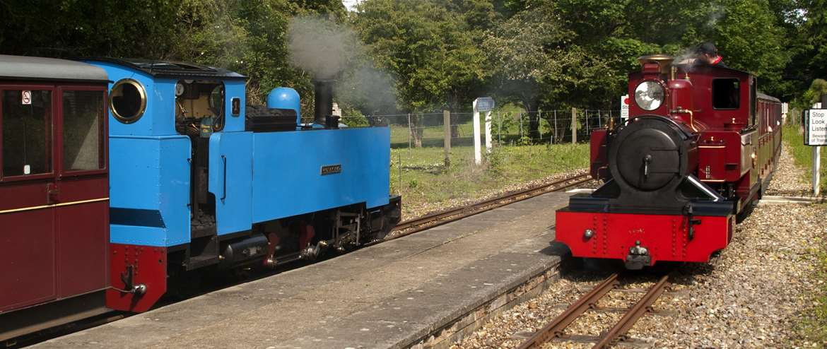 Bure Valley Railway Trains at Coltishall Norfolk