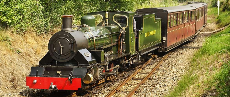 Bure Valley Railway Wroxham Norfolk Engine 7 arriving Wroxham