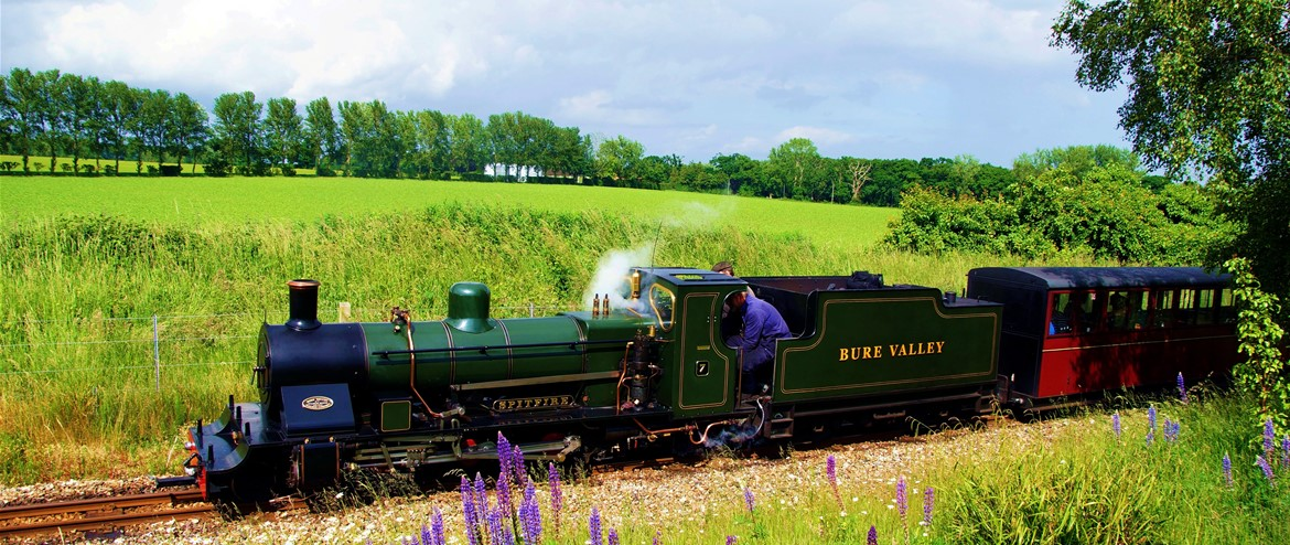All aboard for a great day out on the Bure Valley Railway