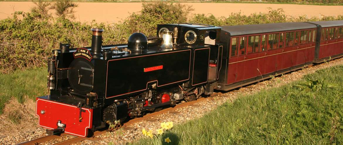 Bure Valley Railway locomotive No.8 Aylsham Norfolk